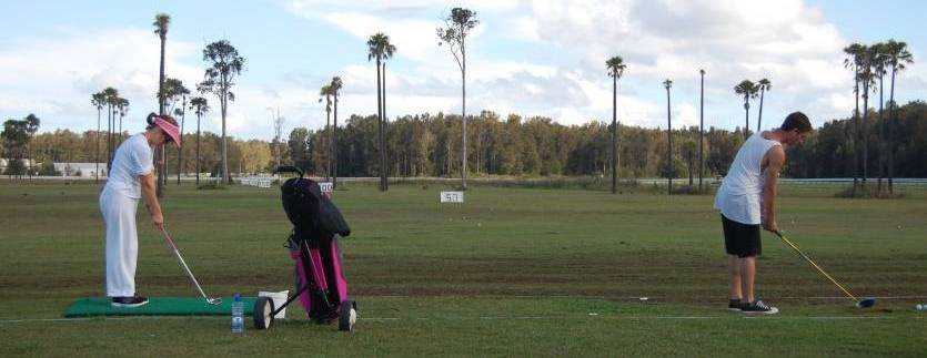 People Hitting Balls Down The Driving Range At Forster - Tuncurry Driving Range And Water Golf