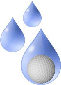 Image Of Water Drop With Golf Ball Inside