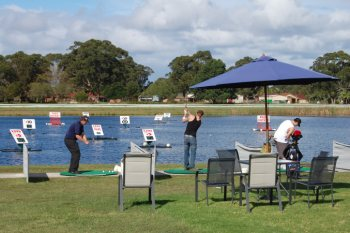 Image of people playing watergolf at Forster - Tuncurry Gold Driving Range Ans Water Golf